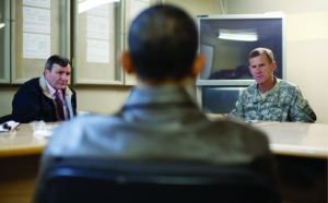 Eikenberry, Obama, and General Stanley McChrystal in Afghanistan, March 2010. (Pete Souza / White House)